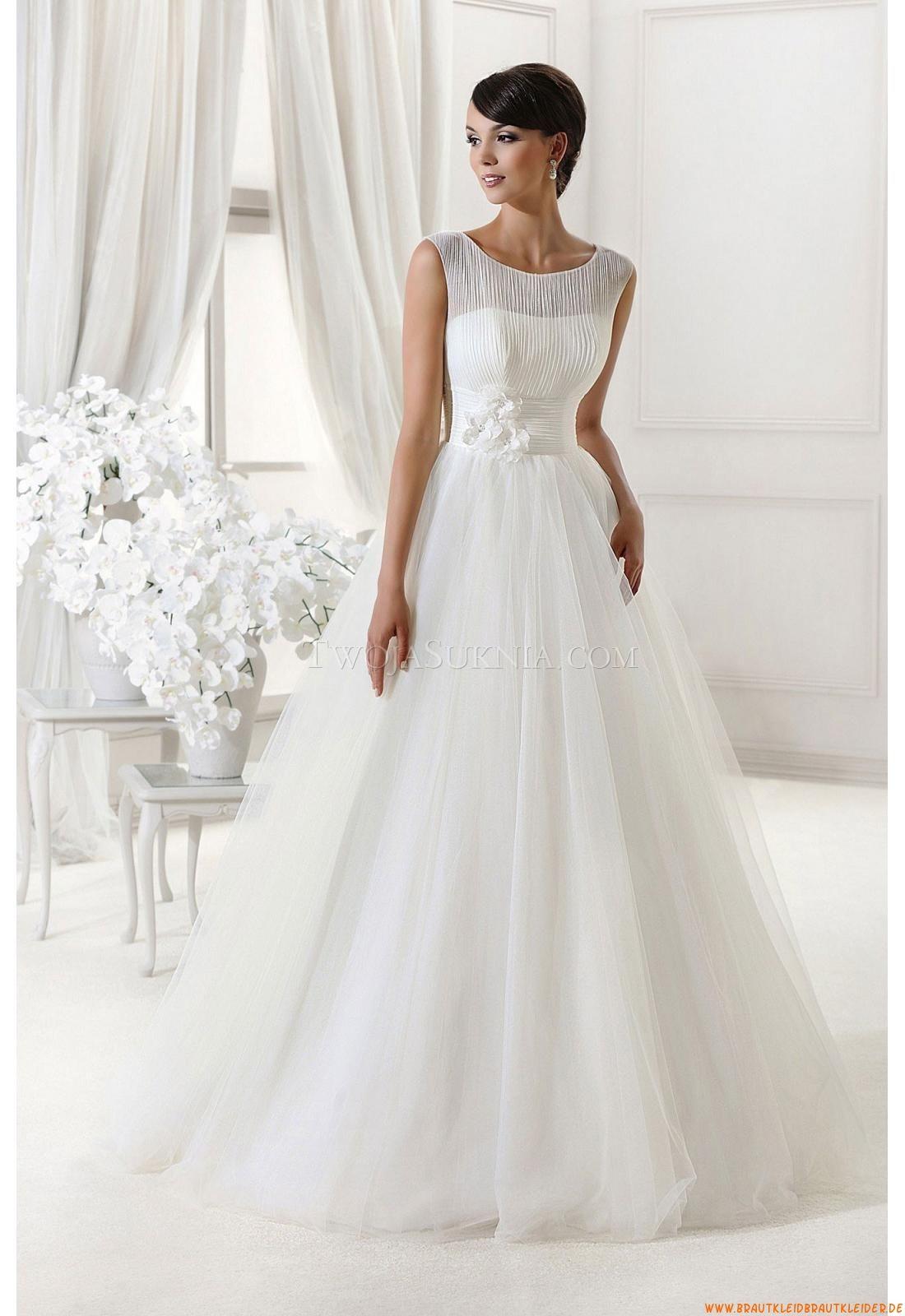 Günstige Schlichte Brautkleider aus Organza mit Applikation ...