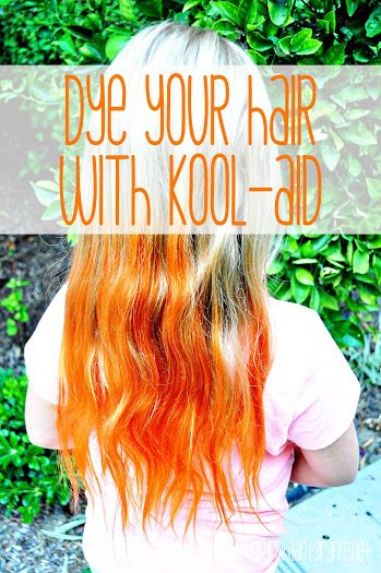 How To Color Your Hair With Koolaid Kool Aid Hair Kool Aid Hair Dye Orange Hair Dye