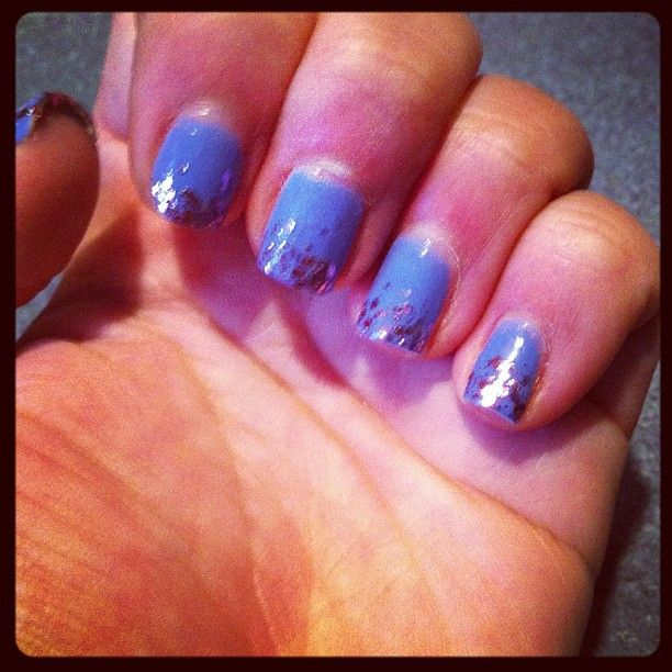 blue and pink sparkles
