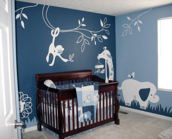 modern animal theme nursery
