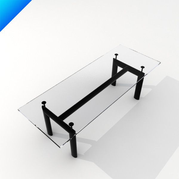 Good Le Corbusier Table Model Available On Turbo Squid, The Worldu0027s Leading  Provider Of Digital Models For Visualization, Films, Television, And Games. Ideas