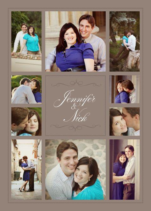 the elegant photo collage wedding invitation wedding archive