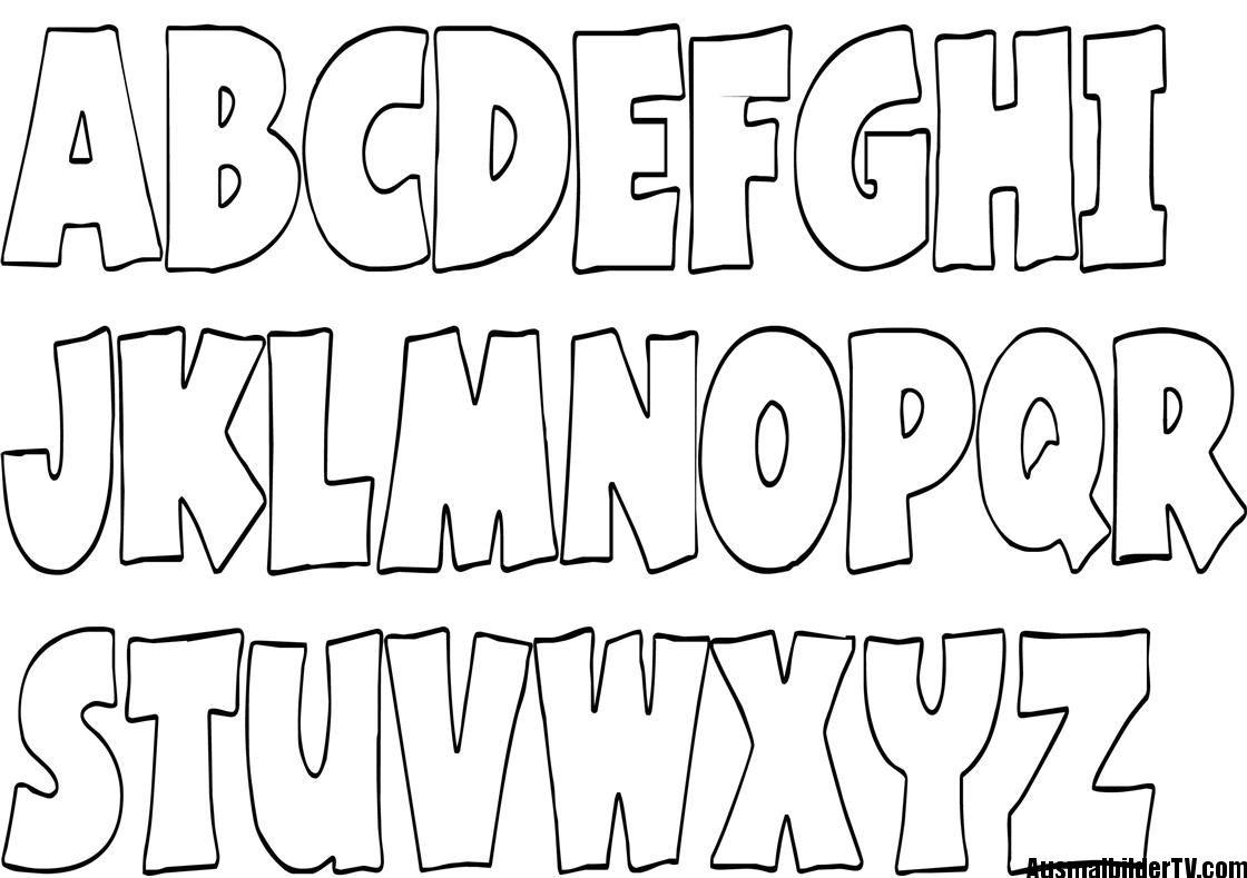 a b c ausmalbilder  Buchstaben vorlagen zum ausdrucken, Alphabet