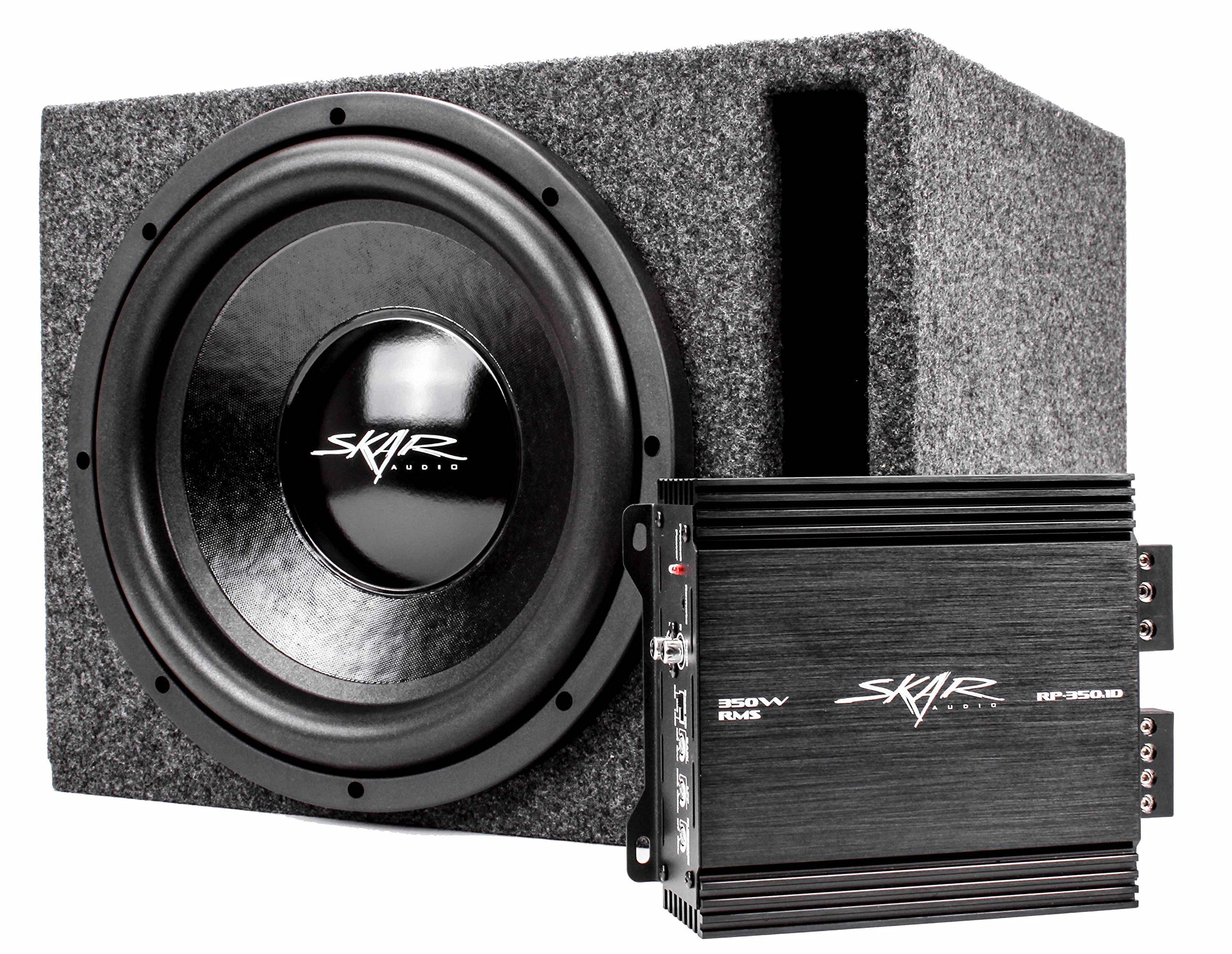 skar audio watt complete car subwoofer package inch skar audio 500 watt complete car subwoofer package subwoofer in ported box amplifier and wiring kit