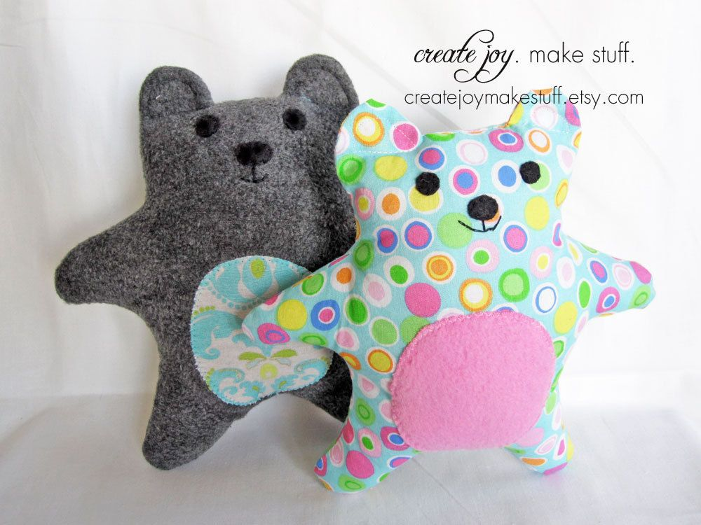 Simple Bear Sewing Pattern - PDF printable - DIY - Tutorial, Easy ...
