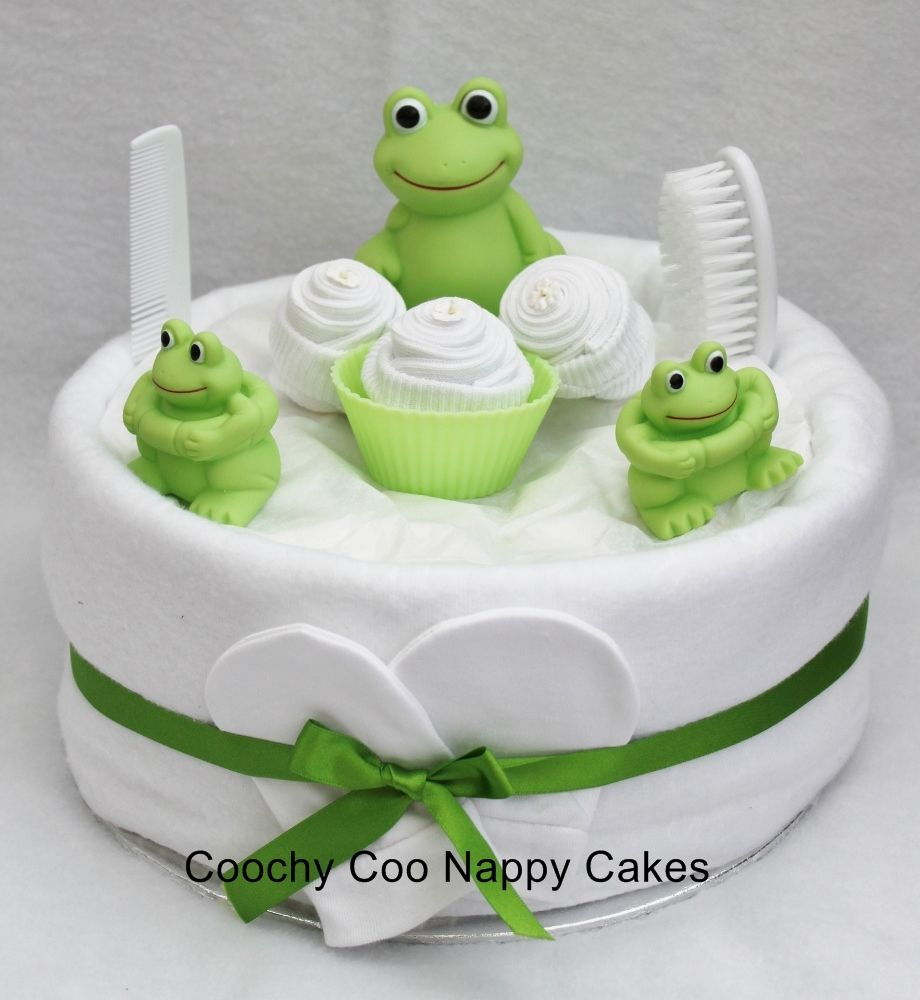 Nappy Cakes With Bathtime Frog Toys Baby Shower Food And