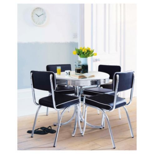 Tesco Direct Rydell 4 Seat Set Black Dining Table