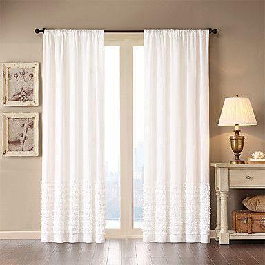 One Panel Rod Pocket Nancy Window Curtain