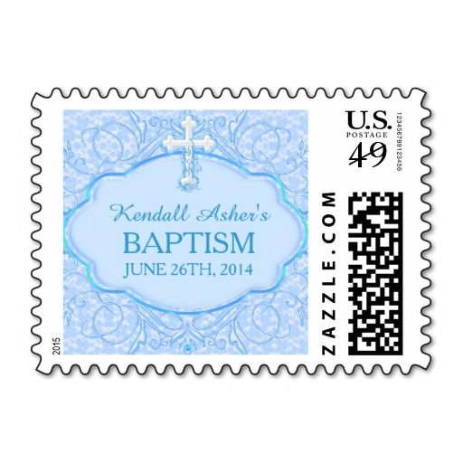 Blue Cross Baptism Stamp