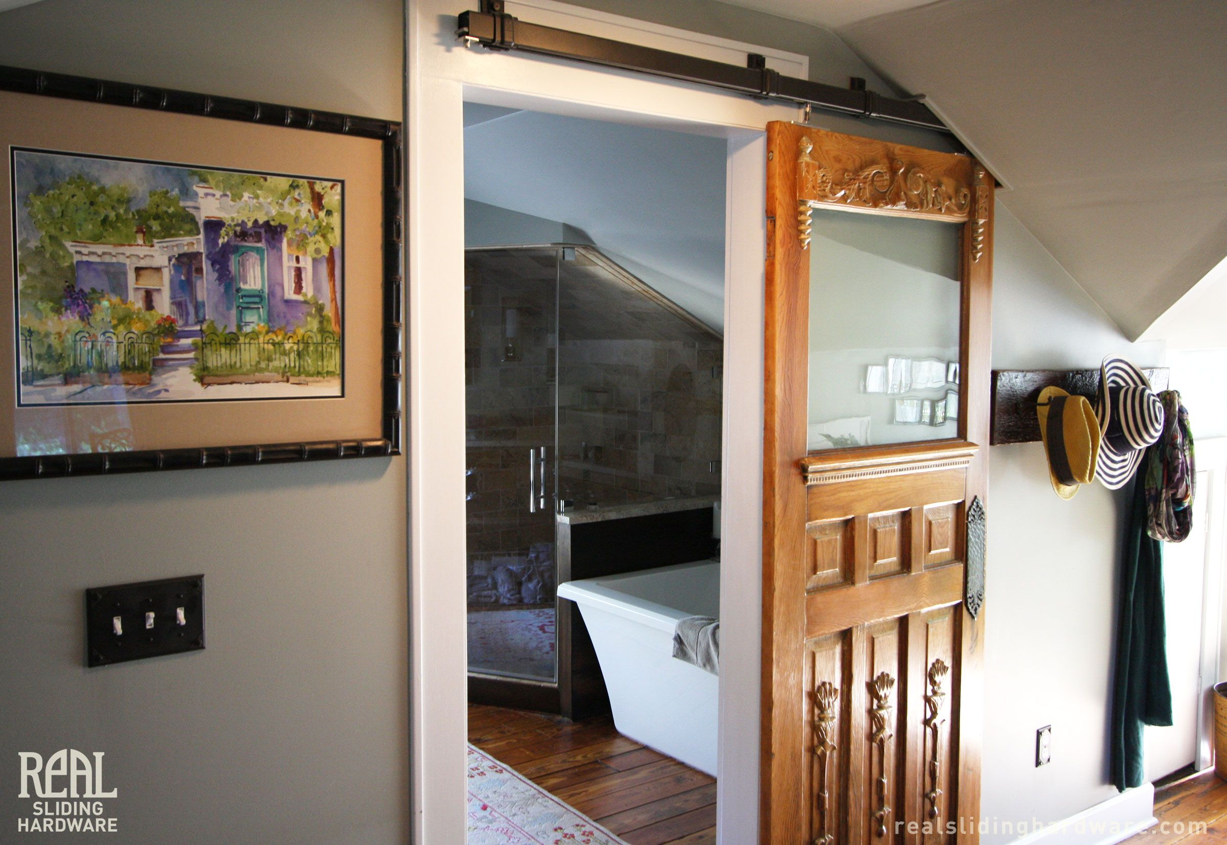 Unique Application Of Sliding Barn Door Hardware In An