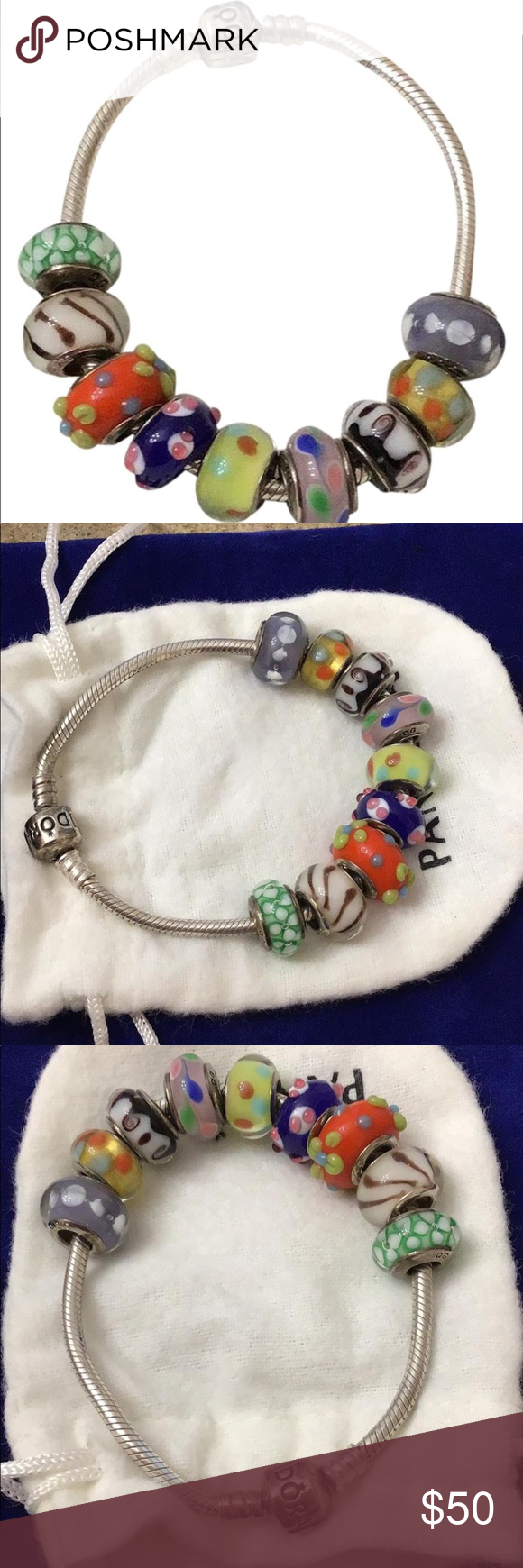 Pandora Bracelet Minor Tarnishing And Scratches Needs Cleaning Some Are Pandora Charms And Some Ar Pandora Bracelet Pandora Jewelry Pandora Jewelry Bracelets