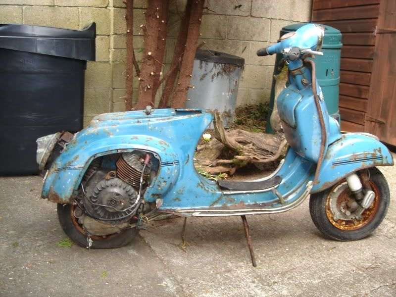 #Old, #rusty #Vespa. In need of a spa treatment.