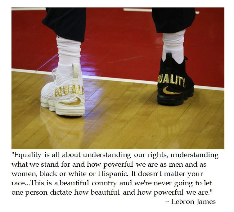 brand new 989f6 338a9 LeBron James on Equality | Sports Quotes | Lebron james ...