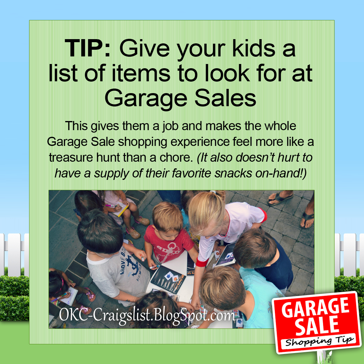 Garage Sale Tip Turn Garage Saling Into A Treasure Hunt For Kids