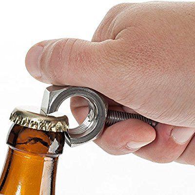 UNKAPUTTBAR !! Flaschenöffner Typ Mutter-Schraube aus Edelstahl