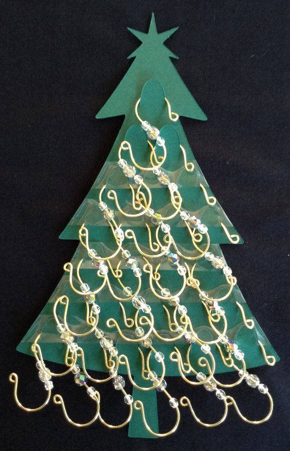 25 Gold Sturdy S Ornament Hooks with Clear Glass by MJKreations