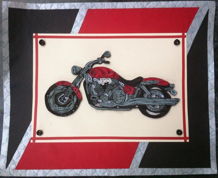 Quilled Royal Enfield Thunder Bird Thunder Bird Made With Paper