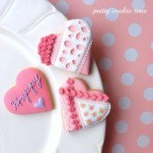 アイシングクッキー icing cookies#Valentine's Day#heart