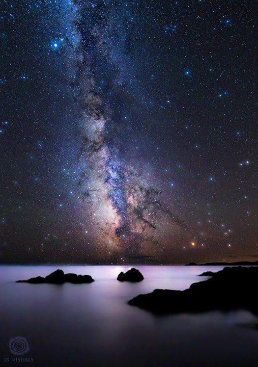Milky Way Rising Over Maine Jared Blash Photography