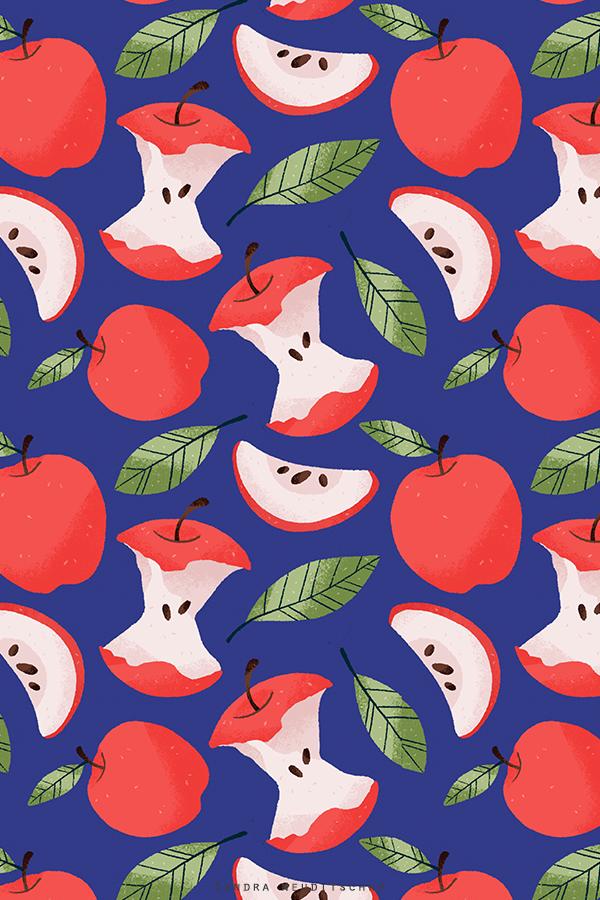 Apple Surface Pattern Design