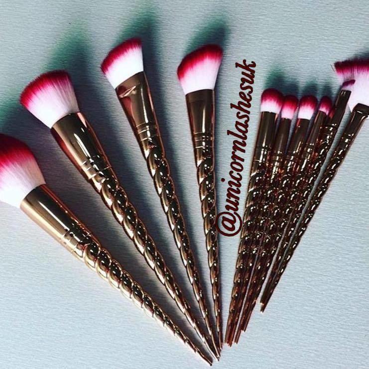 unicorn lashes brushes rose gold. image result for unicorn makeup brushes lashes rose gold