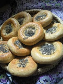 Kulchatoylar (Baby bread) Ingredients: 300 ml of milk 50 grams of butter (or melted lamb's tail fat as in original recipe) 1.5 tbsp of yeast 1 tbsp of sugar 1 tsp of salt Plain flour as needed 1 egg for greasing