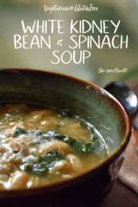 White Kidney Bean and Spinach Soup