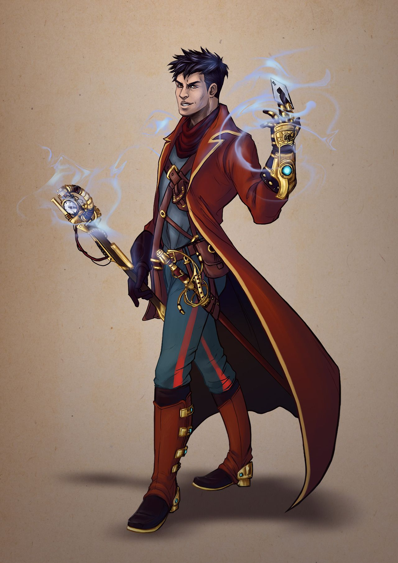 schaloime character design for a steampunk themed board