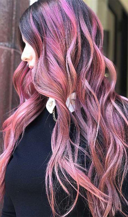 Pin Von Trendfrisurenstil Auf Haar Farbe Ideen Haarfarben Rosa Haarfarbe Rosa Frisuren