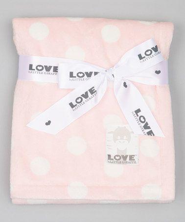 Love this 30'' x 36'' Pink Silky Dot Baby Blanket on #zulily! #zulilyfinds