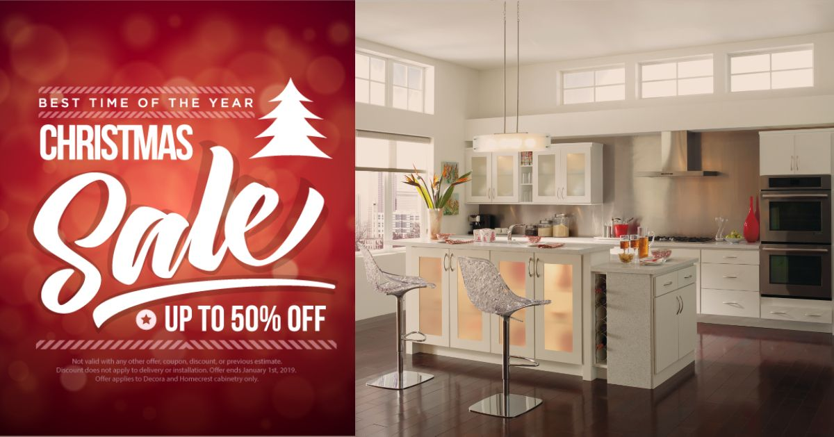 Holiday Savings Are Here Decora Cabinets Homecrest Cabinets Custom Cabinets