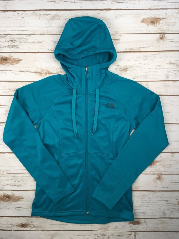 e0523b99db16 Womens The North Face Jacket 100 Cinder Full Zip Hoodie Coat Teal Blue XS   TheNorthFace  BasicJacket