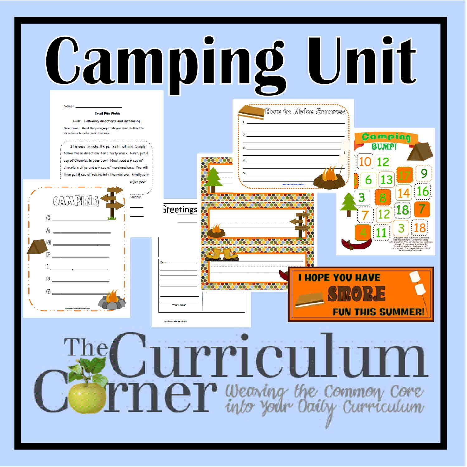 Camping Collection For The Classroom