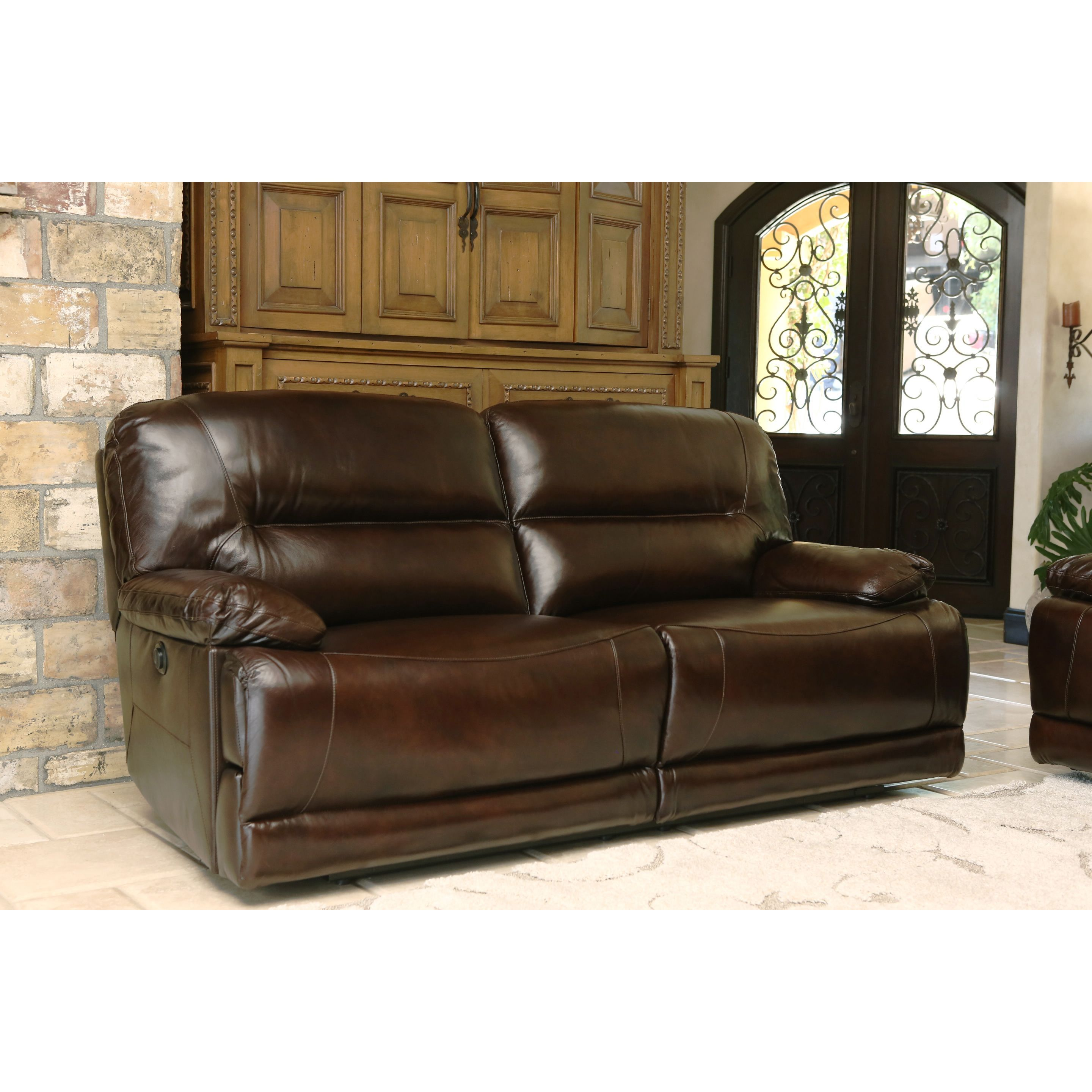 Abbyson Breckinridge Top Grain Leather Power Reclining