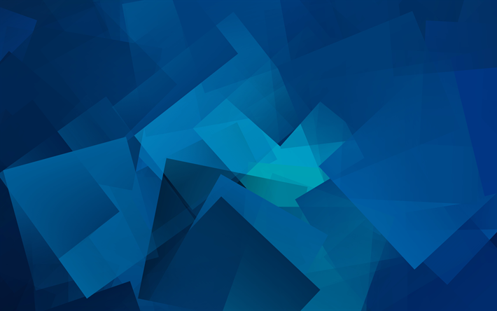 Download Wallpapers Cubes 4k Geometry Geometric Shapes Blue Background