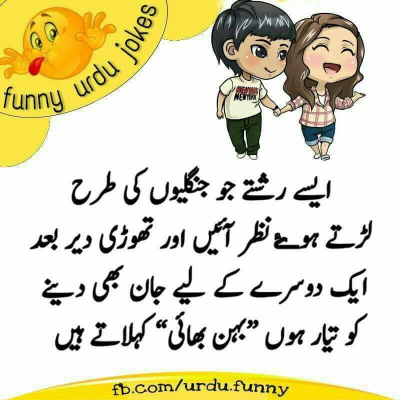 Funny But True Sister Quotes Funny Brother Sister Quotes Urdu Funny Quotes