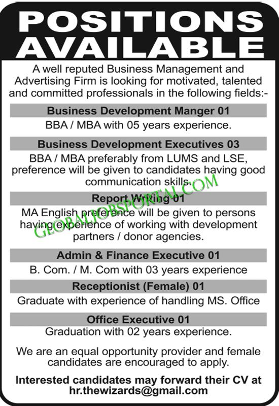 Business Development Manager Job Required in stan :http ...
