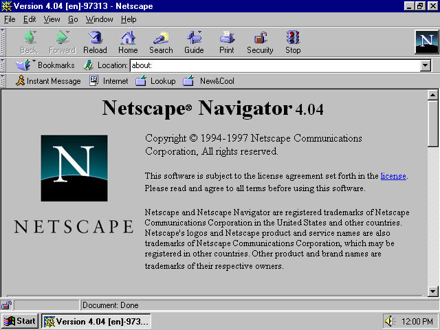 A Visual Browser History, from Netscape 4 to Mozilla Firefox