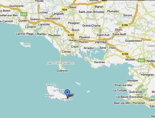 Carte Du Morbihan Bretagne France Belle Ile En Mer Bretagne