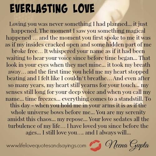 Everlastinglove Love Pinterest Everlasting Love Love Quotes Stunning Everlasting Love Quotes