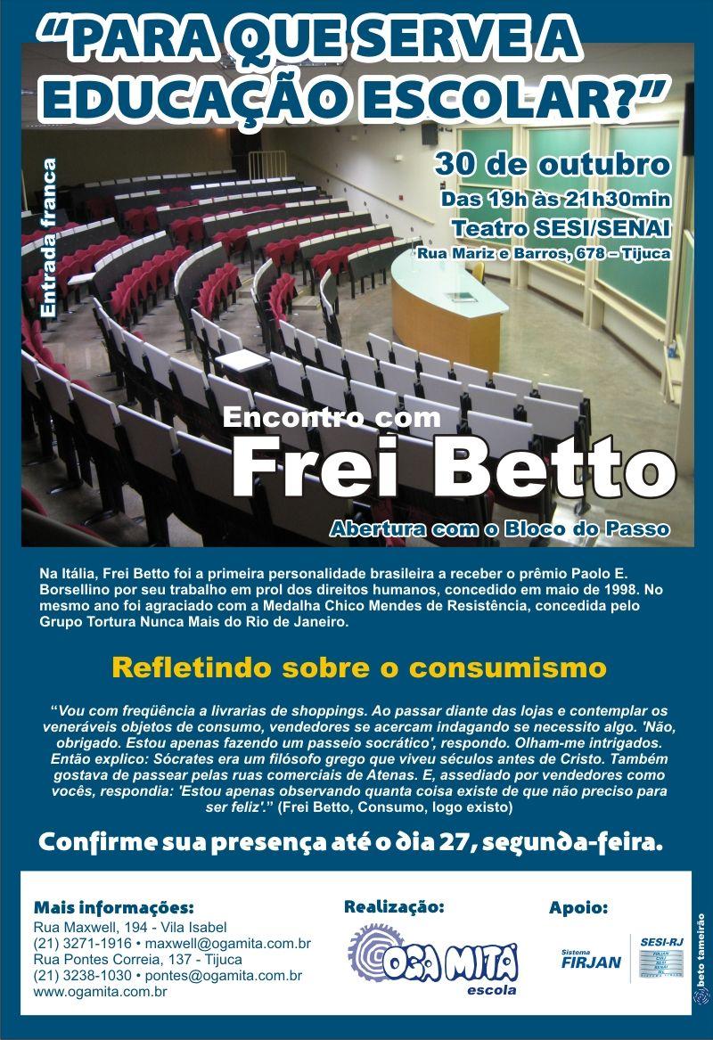 """Comunicado 4 """"Encontro com Frei Betto"""" - out.2009"""