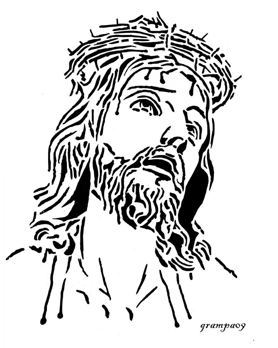 Good Friday coloring page pastor