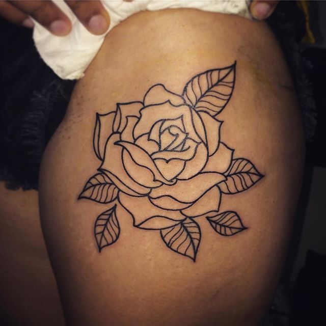 32 Best No Line Flower Tattoo Images On Pinterest: Tattoo Designs, Tattoos, Flower