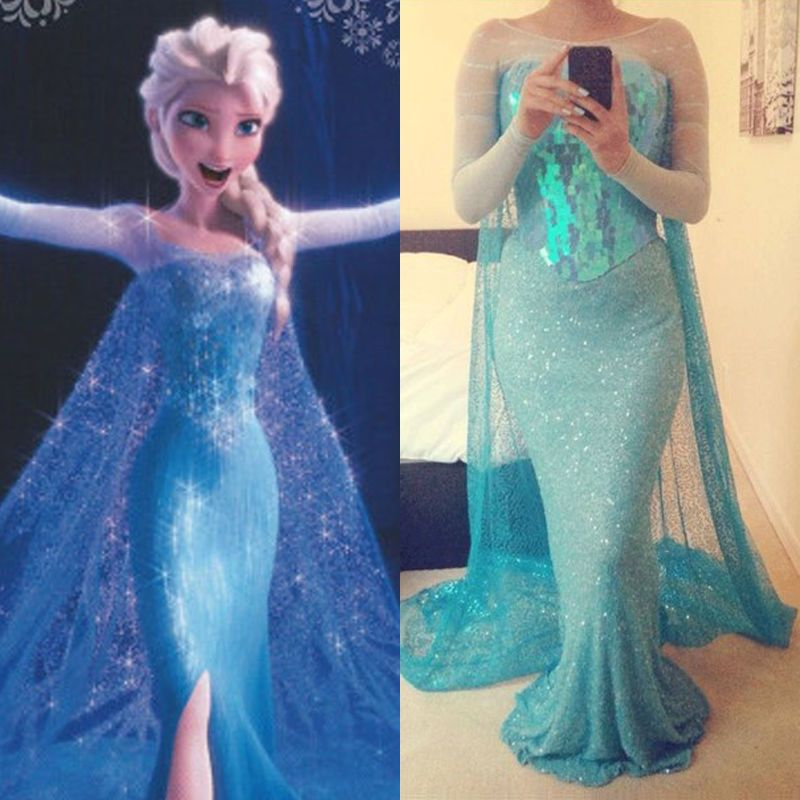 Frozen Movie Elsa Queen Blue Fancy Dress Adult Lady Tulle. Costume Cosplay  Dress In Clothes, Shoes U0026 Accessories, Womenu0027s Clothing, Dresses | EBay  £11.89