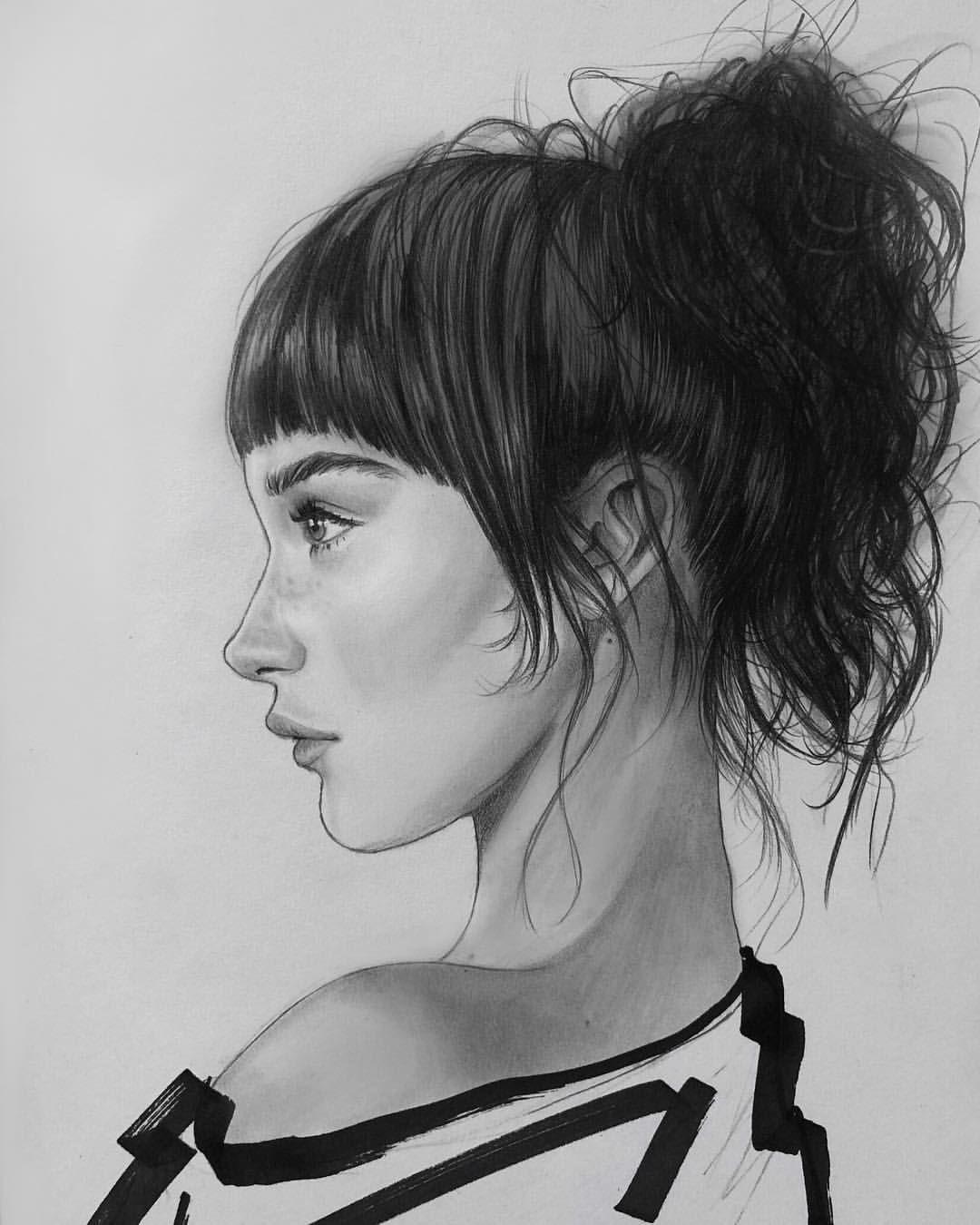 Bella Hadid Drawing By Jeremybear Drawings In 2019 Cute