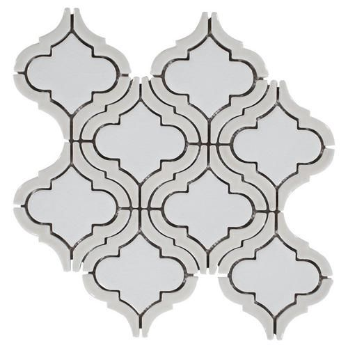 Floor And Decor Arabesque Tile Clay Frame Arabesque Porcelain Mosaic  Mosaics Porcelain And Clay