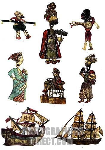 non-turkish shadow theater characters