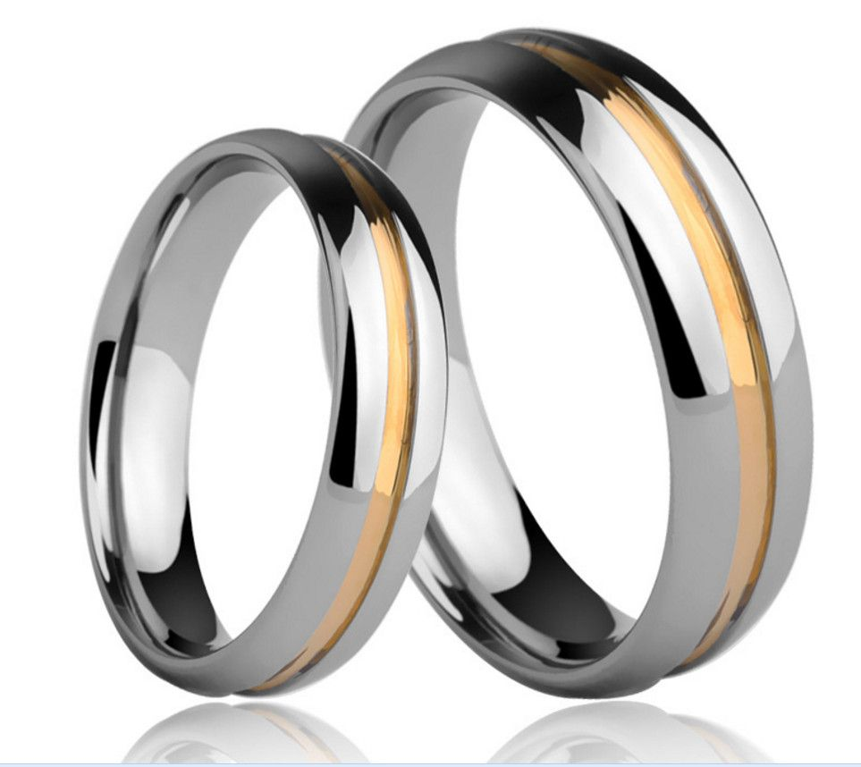 6mm 4mm Tungsten Carbide Couple Rings For Him And Her Sets High Polish Domed E Wedding Bands Centre Tungsten Couple Rings Tungsten Wedding Bands Couple Rings