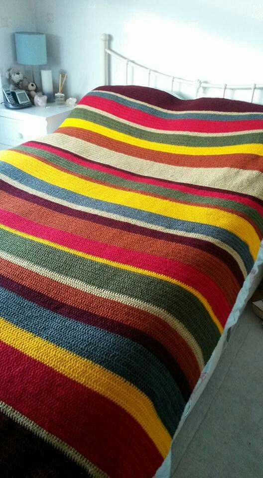 Dr Who Inspired Crochet Blanket For Teenage Boy Very Cool Colours