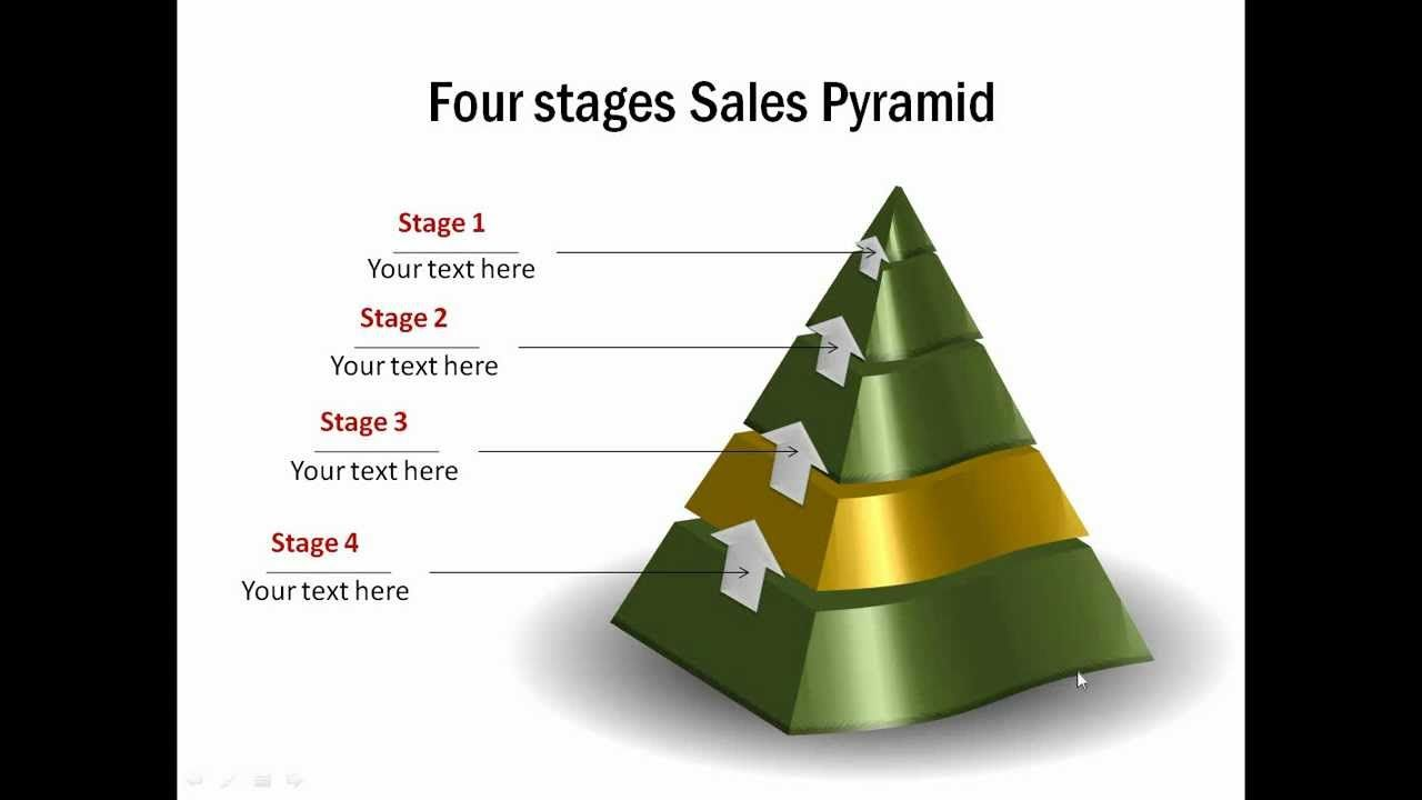 How To Create D Pyramid In Powerpoint  Youtube  Ms Powerpoint